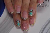 фото жидкие камни на ногтях