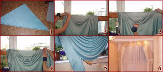Как сшить шторы с ламбрекенами своими руками фото выкройки